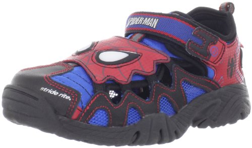Stride Rite Spider-Man Light-Up Fisherman Sandal (Toddler/Little Kid/Big Kid),Red/Blue,2.5 M US Little Kid