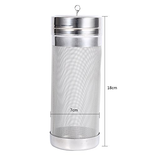 Beer Dry Hopper Filter,304 Stainless Steel Hopper Spider Strainer 300 Micron Mesh Tea Kettle Brew Filter by Fdit (Image #3)