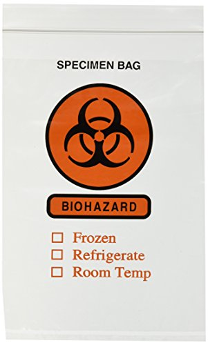 Biohazard Specimen Bags 6'' X 9'' - 100 Count Case by Canzak