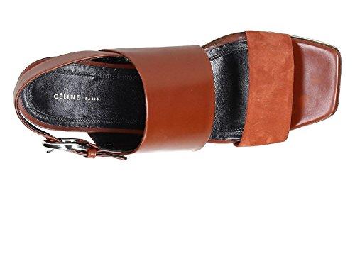 Sandali Vitello Ruggine Codice Di Modello Céline 320983hwec Zeppe 18fv In Lucida Pelle RgW6Xw