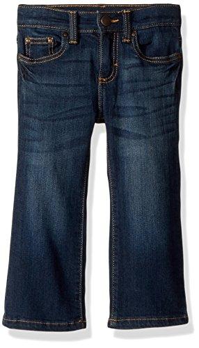 Wrangler Boys' Toddler Five Pocket Jean, Dark Blue, 2T