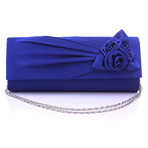 Royal satin ivoire Bleu embrayage STK0115012005 soirée sac main à Multicolore Sac parti en Clutches rose Femmes bandoulière R7qzn