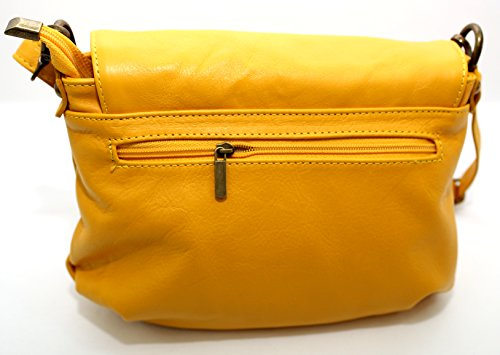 Borsa a tracolla da Donna , Monviso , Made in Italy , CREEO Giallo