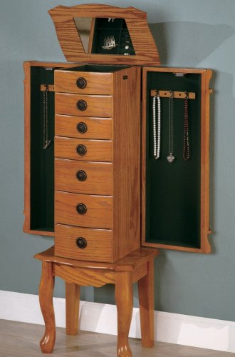 Classic Finish Jewelry Storage Armoire