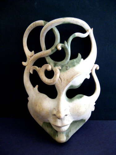 African Mask Lucky in Love Goddess Mask Wall Hanging- COLLECTOR'S ITEM- OMA BRAND (Lucky Mask Tiki)