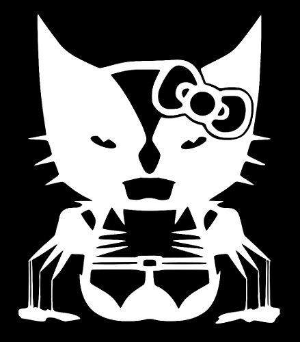Wolverine Hello Kitty Decal Vinyl Sticker|Cars Trucks Walls Laptop|WHITE|5.5 In|URI371