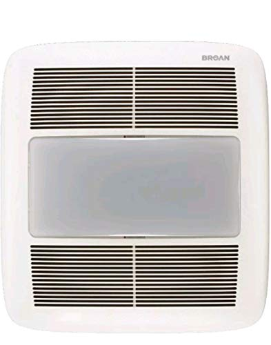 Broan QT140LE 1.5-Sone 140-CFM White Bathroom Fan Light