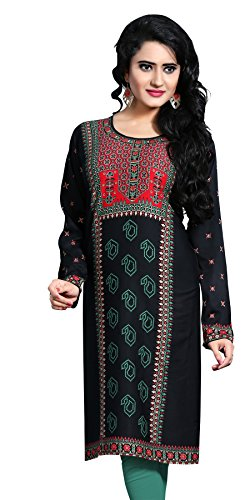 Indian Tunic Top Womens Kurti Printed Blouse India Clothing – Small, L 125