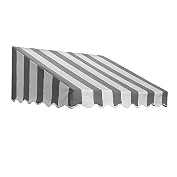 Awntech 6-Feet San Francisco Window Entry Awning, 24-Inch Height by 36-Inch Diameter, Gray White