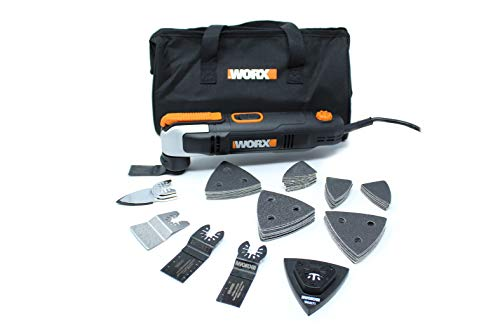 Worx WX686L.1 2.5A Oscillating Tool with Clip-in Wrench and 70 Piece Accessory Kit