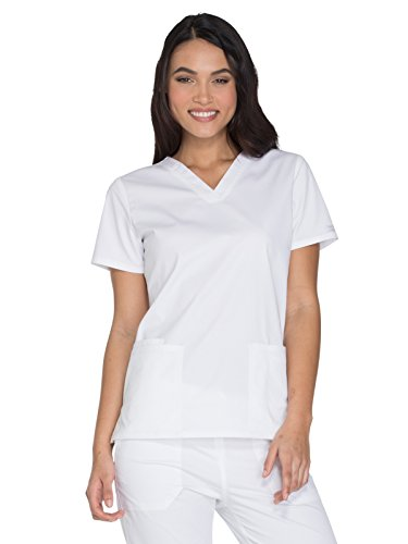 Cherokee Workwear Core Stretch WW630 V-Neck Top White XL ()