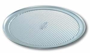 Premium USA 14.5 Inch Aluminium Steel Wide Rim Pizza Pan Bakeware with a Wheeler Cutter