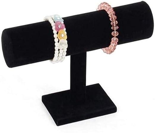 Velvet T shape Jewelry Display Rack Bracelet Necklace Stand Organiser Holder Kit