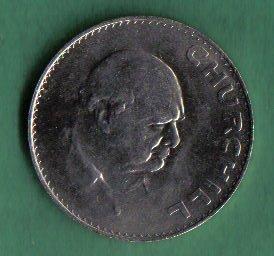 1965 UK Great Britain English Crown (5 Shillings) Winston Churchill Commemorative Coin KM#910