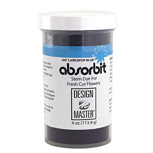 Design Master Absorbit Stem Dye for Fresh Cut Flowers Matte Finish Systemic (Larkspur Blue)