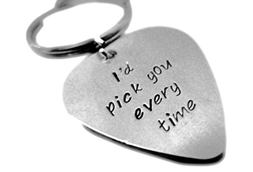 HACOOL Personalized Key Chain Pendant in Solid Sterling Silver For Boyfriend Husband Best Friend Gift (Silver)