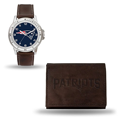 iots Men's Watch and Wallet Set, Brown, 7.5 x 4.25 x 2.75-Inch ()
