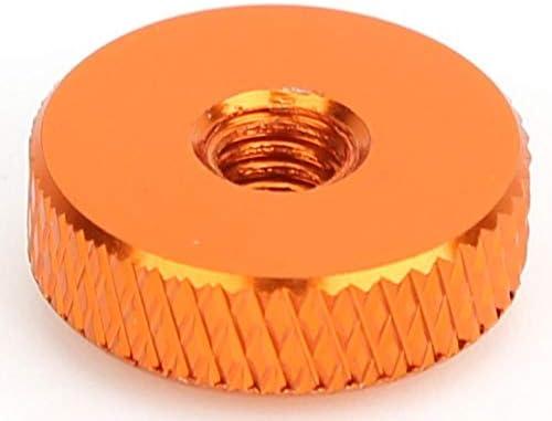 Orange 10PCS//Set M4x14x5 Cabeza plana Tuercas de apriete manual Tornillos de aleaci/ón de aluminio Tuercas