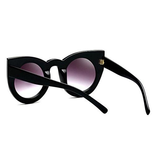 Sunglasses De Yeux Black Protection Lunettes Des Chat Cadre Zhhlaixing Amie Cool Personnalité Aux Femmes Womens Soleil Oeil Grand w4TaxOUIq