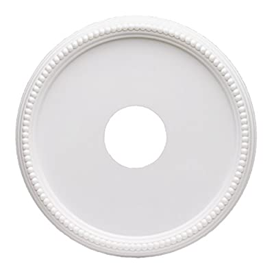 Westinghouse 7773300 16-Inch Round Beaded White Finish Ceiling Medallion by Westinghouse