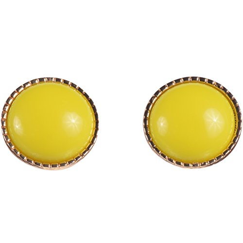 16k Gold and Lemon Candy Button Stud Earring by Zoetik