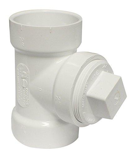 (Canplas 192115AS PVC DWV 2 CO Tee with Plug, 2-Inch)