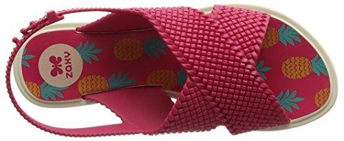 Zaxy Women's Kids Weave Open-Toe Sandals Pink (Bright Pink) qYp2Sl9m