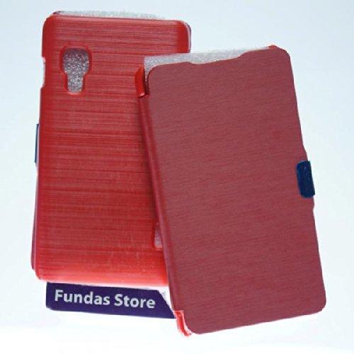 Funda Carcasa FLIP COVER LIBRO para Lg Optimus L5 2 II E460 roja IMAN