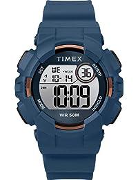 Timex Women's Digital Blue Silicone Strap Wrist Watch (Model: TW5M23500GP)
