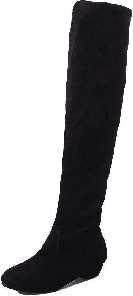 Yesmile Zapatos de mujer❤️Zapatos Botas largas Planas de Invierno de Mujer Botas Altas Cortas de Gamuza de Invierno