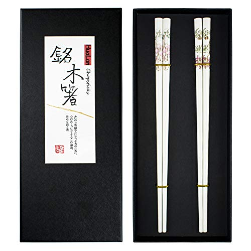 HuaLan Ceramic Chopsticks Series-Non-Mold High Temperature Resistant Healthy and Reusable Ceramic Chopsticks 2 Pairs Gift Set