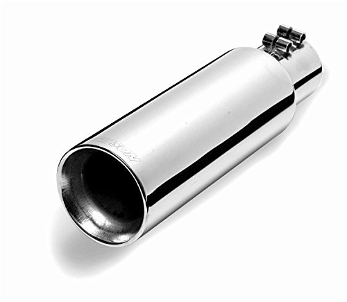 (Gibson 500421 Intercooled Slash Dual Walled Exhaust Tip)