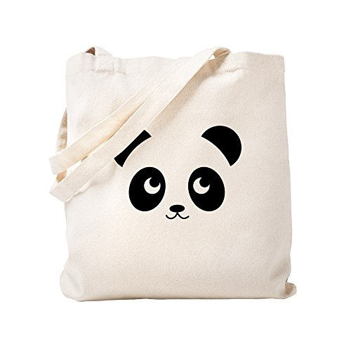 CafePress Panda Smile Natural Canvas Tote Bag, Cloth Shopping Bag ()