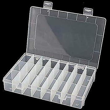 Caja de almacenamiento con 24 contenedores extraíbles peque?os - Organizador de plástico para joyería, accesorios para arte de u?as, herramientas.: Amazon.es: Bricolaje y herramientas
