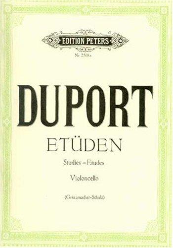 21 Etüden für Violoncello Broschüre – 1. Januar 2009 Walter Schulz Jean-Louis Duport Friedrich Grützmacher Peters