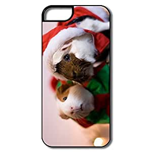 IPhone 5/5S Covers, Santa Guinea Pig White/black Cases For IPhone 5 5S