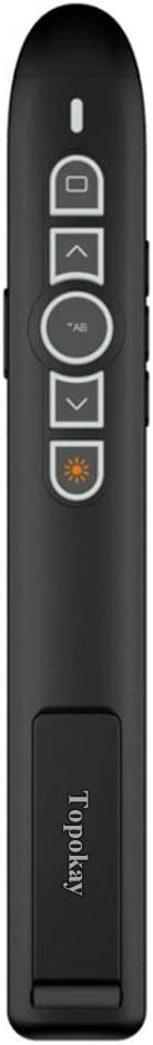 Topokay Multifunctional and Rechargeable Universal Wireless Presenter Remote for Mac, Laptop, Computer
