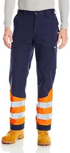 JOBMAN Workwear Mens Tradesmans Workpants with Hi-Vis