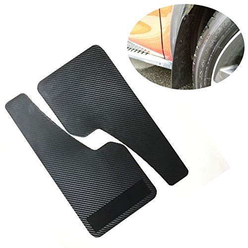 Ting Ao 2PCS Auto Mudflaps Wheel Moulding Fender Mudguard Left & Right Universal for SUV Car Racing Car Truck Van Mudguard Pair Carbon Fiber Look Black ABS