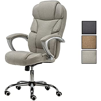 amazon com flourish office high back executive office chair linen