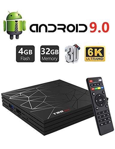 Android 9.0 TV Box,DAHOMI T95 Max Smart TV Box 4GB RAM 32GB ROM H6 Quad-Core Cortex-A53 Supports 3D 6K H.265 Output 2.4GHz WiFi USB 3.0 Internet Media Player (Internet Tv Android)