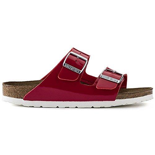 Red Sandals Patent (Birkenstock Womens Arizona Tango Red Patent Birko-Flor Sandals 37 EU)