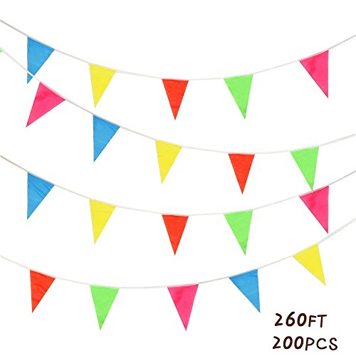 Banner Flags Outdoor Party Pennant Multicolor Triangle Flags For Festival Decor, 260ft