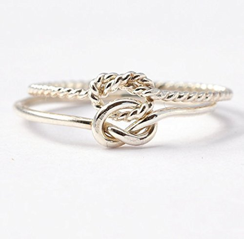 Sterling Silver Double Knot Ring - Sterling Silver Double Knot Ring