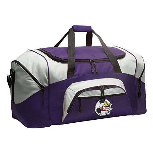 Soccer Nut Duffle Bag Soccer Fan Gym Bags Purple