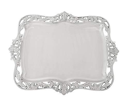 (Arthur Court Designs Aluminum Fleur-De-Lis Acanthus Platter 20