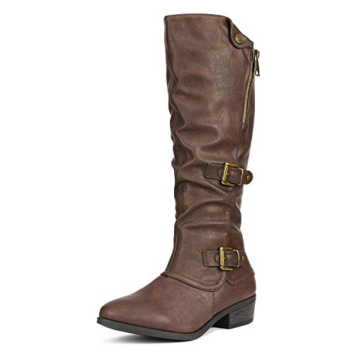 DREAM PAIRS Women's PARKAR Brown Winter Knee High Boots Size 8 B(M) US