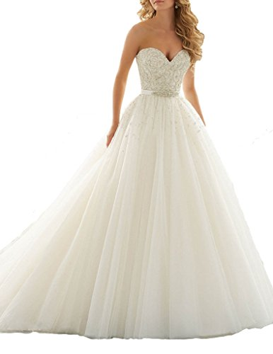 ScelleBridal 2016 Seeetheart Strapless Ball Gowns Beading Wedding Dresses Bridal Gowns Ball Gown Strapless Beading