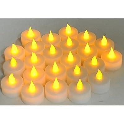 Instapark LCL Series LED Flameless Tea Light Candles, 2-Dozen Pack
