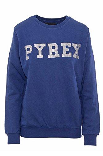 PYREX - Felpa donna garzata glitter 33805 L Blu